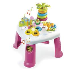 Cotoons table d'activités - jeu d'eveil - fonctions electroniques et mécaniques - rose