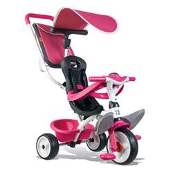 Tricycle baby balade 2 - tricycle evolutif avec roues silencieuses - dispositif roue libre - rose