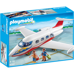 6081 - Playmobil Summer Fun - Avion avec pilote et touristes
