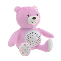 Ourson Projecteur Baby Bear Rose