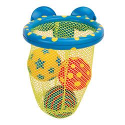 Panier de basket avec balles