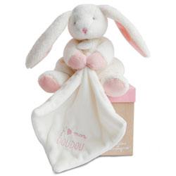 J'aime mon Doudou-Pantin avec doudou lapin rose