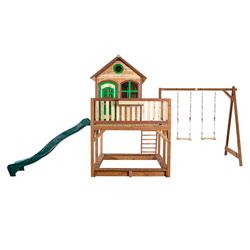 Maison de jardin Liam avec double balançoire