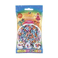 Sachet de 1000 perles bicolores Hama