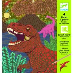 Cartes à gratter dinosaures