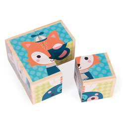 4 Cubes en bois de la forêt