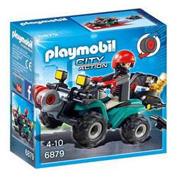 6879 - Quad avec treuil et bandit - Playmobil City Action