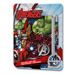 Carnet spirale et stylo Avengers petit modèle