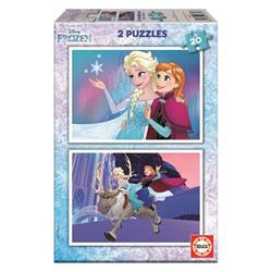 2 puzzles de 20 pièces Reine des Neiges