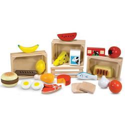 Caisses aliments en bois