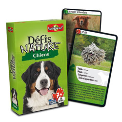 Jeu de cartes défis nature chiens