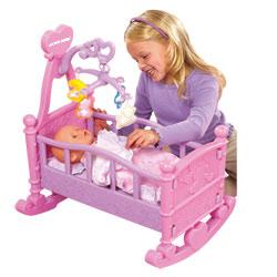 Berceau à bascule pour poupées
