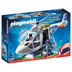 6921 - Playmobil City Action - Hélicoptère de Police avec projecteur