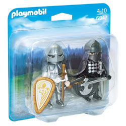 6847 - Chevalier noir et chevalier d'argent - Playmobil Knights
