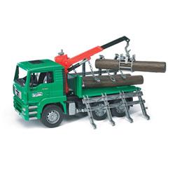 Camion porte troncs avec 3 troncs