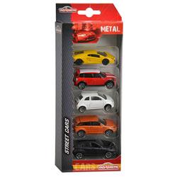 Set de 5 voitures métal