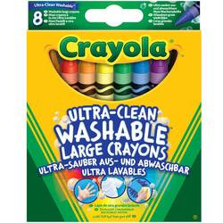 8 Crayons à la cire lavables