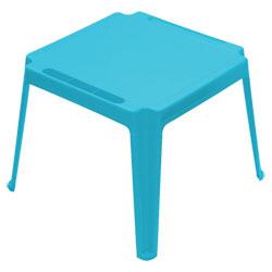 Table carrée enfant Bleue