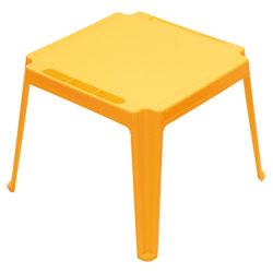 Table carrée enfant Jaune
