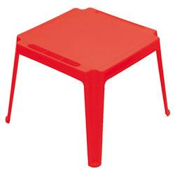 Table carrée enfant Rouge