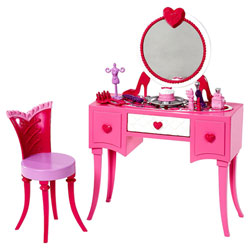 Barbie Mobilier Basique Coiffeuse