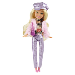 Poupée Glitz&Glam Blonde Pantalon Violet et Accessoires