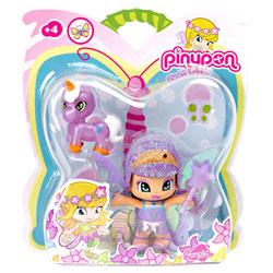 Pinypon Fée Pailletée Violette et sa Licorne Violette