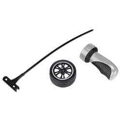 Fly Wheels Roue Noir avec lançeur Gris