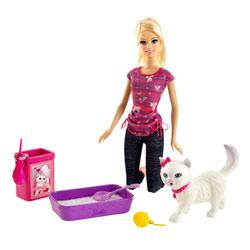 Barbie Animaux Rigolos Barbie Et Son Chien Taffy Mattel