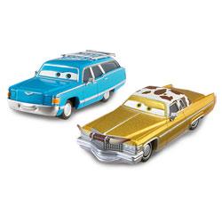 Véhicule Cars 2 Mrs The King et Tex Dinoco
