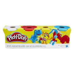 Pâte à modeler 4 pots couleur Classiques de Play-Doh