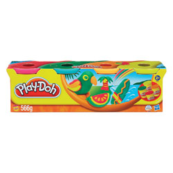 Pâte à modeler 4 pots couleur Tropicale de Play-Doh