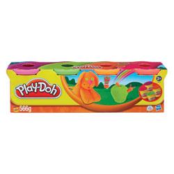 Pâte à modeler 4 pots couleur Fluo de Play-Doh