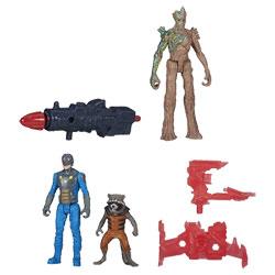 Gardiens de la Galaxie Epic Battlers Groot et Rocket avec Nova Officer