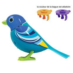 Digibird Blue sur sa bague