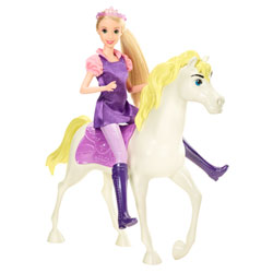 Princesse Disney Raiponce et son Cheval Magique
