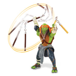 Tortues Ninja Movie Figurine Deluxe à Fonction Michelangelo