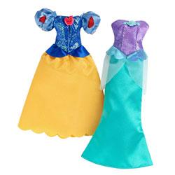 Robes à paillettes Disney Princesses Ariel et Blanche-Neige