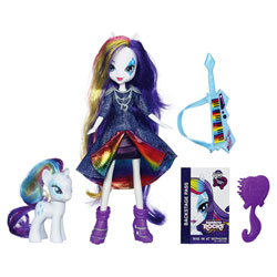 My Little Pony Poupée Equestria Girls Rarity et son Poney