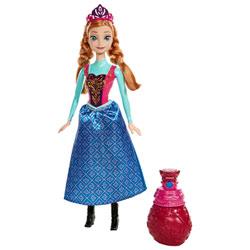 Poupée Reine des Neiges Anna Couleur royale