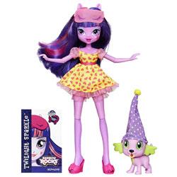 My Little Pony Equestria Girls Soirée Pyjama Twilight et Spike