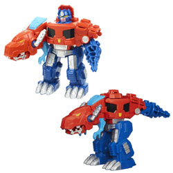 Transformers Rescue Bots 2en1 Dinosaure Optimus Prime
