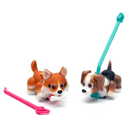 Pet Parade 2 chiens Corgi et Beagle