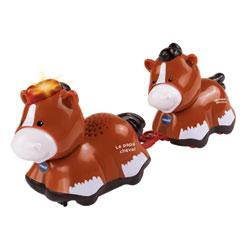Duo animaux bébé avec papa cheval - Tut Tut Animo