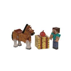 Coffret Minecraft Steve et cheval marron