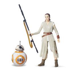 Ray Jakku et BB-8 Star Wars figurine Deluxe Black series 15 cm