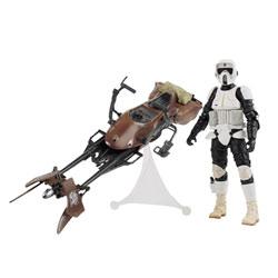 Star Wars Deluxe véhicule Scout biker avec speeder bike
