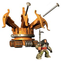 Figurine Dragon Drago et machine de guerre