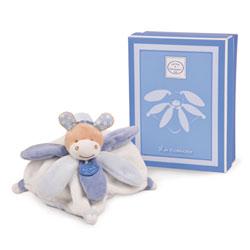 Mini doudou collector cheval bleu