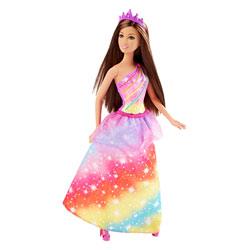 Barbie Princesse Arc-en-ciel brune